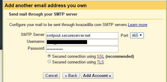 add smtp server to gmail